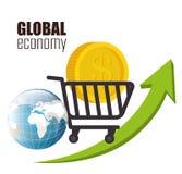 värld för spekulation för bild för begreppsmässig krisekonomi global Arkivfoton
