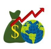 värld för spekulation för bild för begreppsmässig krisekonomi global Royaltyfri Foto