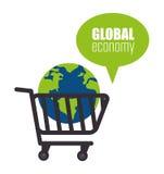 värld för spekulation för bild för begreppsmässig krisekonomi global Royaltyfri Fotografi