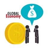 värld för spekulation för bild för begreppsmässig krisekonomi global Arkivbilder