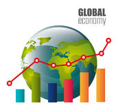 värld för spekulation för bild för begreppsmässig krisekonomi global Royaltyfri Bild