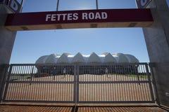 värld för stadion för fotboll för koppelizabeth port s Arkivfoto