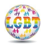 Värld för symbol för förälskelse- och familjrätter LGBT Arkivbilder