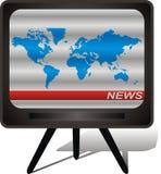 värld för tv för bildöversikt förvanskad Vektor Illustrationer