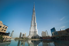 värld för uae för torn för burjdubai khalifa mest högväxt Royaltyfria Foton