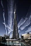värld för uae för torn för burjdubai khalifa mest högväxt Royaltyfria Bilder