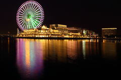 Värld för Yokohama minatomiraicosmo royaltyfri bild