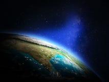 Värld från utrymme Arkivfoton