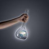 Värld i rör Arkivfoto