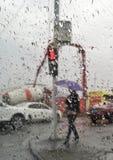 värld i regn Fotografering för Bildbyråer