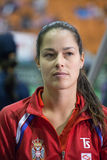 Värld ingen 6 tennisspelare Ana Ivanovic Arkivbilder