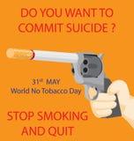 Värld ingen tobakdag Arkivfoton