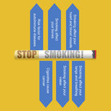 Värld ingen tobakdag royaltyfri illustrationer