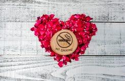 Värld ingen tobakdag som är ingen - röka Royaltyfri Bild