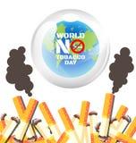 Värld ingen tobakdagaffisch Royaltyfri Fotografi