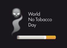 Värld ingen tobakdagvektor stock illustrationer