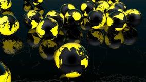 Värld som studsar bollar lager videofilmer