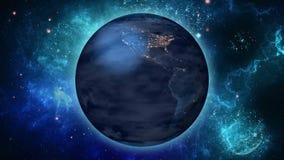 Värld space1 stock illustrationer