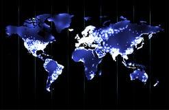 Värld vid natt Royaltyfri Bild