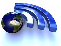 Värld Wi-Fi stock illustrationer