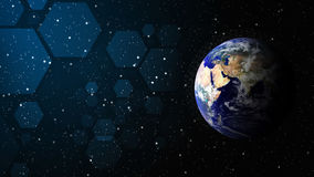 Världen av teknologibakgrund royaltyfria bilder
