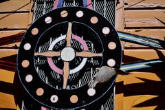 Världen för San Francisco ` s kände igen Balmy grändväggmålningar, 47 Arkivfoton