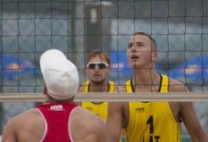 Världen för volleyboll för strand 2014 turnerar Royaltyfria Bilder