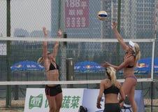 Världen för volleyboll för strand 2014 turnerar Arkivfoton