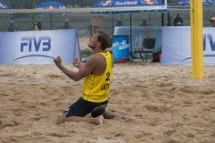 Världen för volleyboll för strand 2014 turnerar Royaltyfri Fotografi