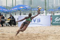 Världen för volleyboll för strand 2014 turnerar Arkivbilder