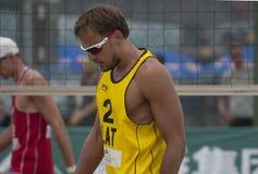 Världen för volleyboll för strand 2014 turnerar Arkivfoto