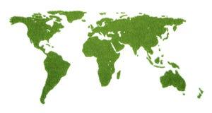 Världen kartlägger Arkivbild