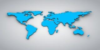 Världen kartlägger Royaltyfri Bild