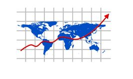 Världen kartlägger Arkivfoton