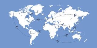 Världen kartlägger och hyvlar stock illustrationer