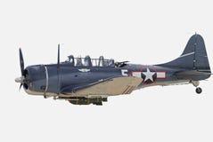 Världen kriger Dauntless flygplan för störtbombare II arkivbild