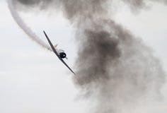 Världen kriger flygplan II Reenact pärlemorfärg hamnattack Royaltyfri Bild