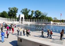 Världen kriger II minnesmärke i Washington DC, USA Arkivbilder