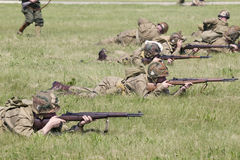 Världen kriger reenactment II Royaltyfria Bilder