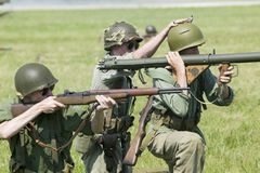 Världen kriger reenactment II Arkivfoton