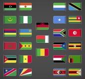 Världen sjunker samlingen, Afrika, del 2 stock illustrationer