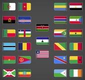 Världen sjunker samlingen, Afrika, del 1 stock illustrationer
