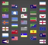 Världen sjunker samlingen, andra, del 1 royaltyfri illustrationer