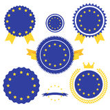 Världen sjunker serie Vektorflagga av europeisk union Royaltyfria Foton