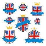 Världen sjunker serie Vektorflagga av Förenade kungariket Royaltyfri Foto