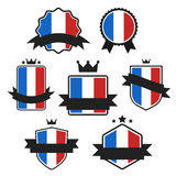 Världen sjunker serie Vektorflagga av Frankrike Arkivfoto