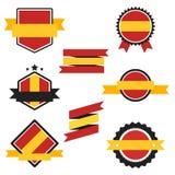 Världen sjunker serie Vektorflagga av Spanien Royaltyfri Foto