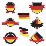 Världen sjunker serie Vektorflagga av Tyskland Arkivbild