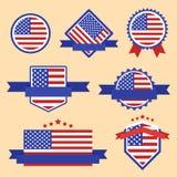 Världen sjunker serie Vektorflagga av USA Royaltyfria Foton