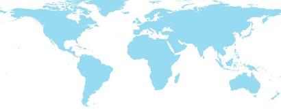 Världsöversikt Arkivbild